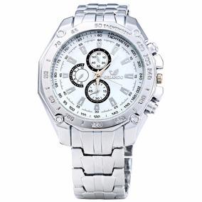 Relógio Masculino Aço Cromado Orlando Promoção - Cs302