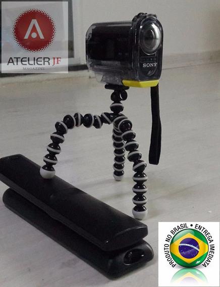 Tripé Flexível Para Sony Action Cam Hdr-as15 Ou As-30
