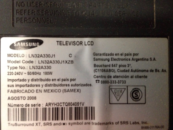 Placa Inverter Lcd Samsung Ln32a330j1