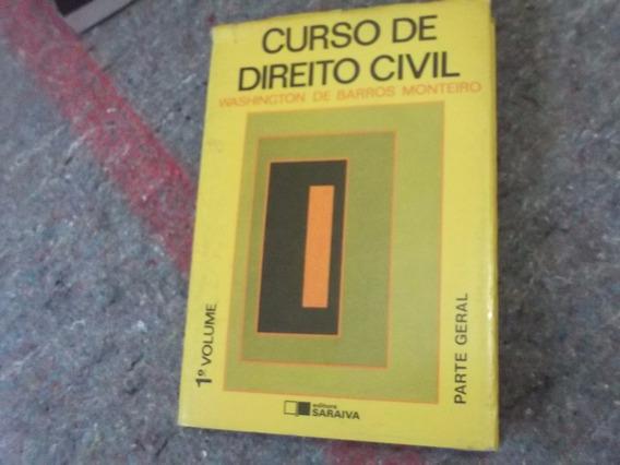 Livro Curso De Direito Civil-1990-parte Geral- W.b.monteiro