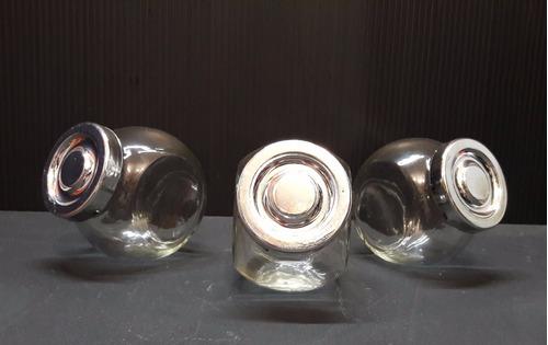 Frascos Carameleras De Vidrio Para Souvenir, Set X6 Unidades