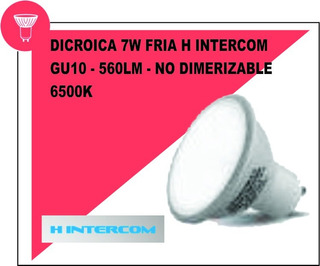 Dicroica 7w Fría X10 H Intercom - Oferta Imperdible!!