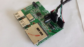 Placa Usb + Leitor Cartao All In One Cce Solo A45 Frete 15,0