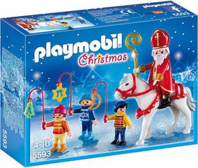 Presépio Papai Noel Playmobil Christmas Parada Natalina 5593