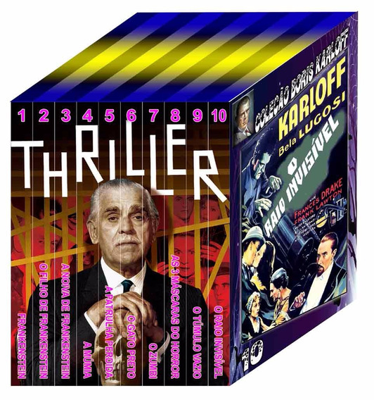 Coleção Imperdível De Boris Karloff Em 10 Dvds Fantásticos