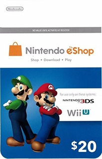 Nintendo Eshop $20 Gift Card - Switch | Wii U | 3ds
