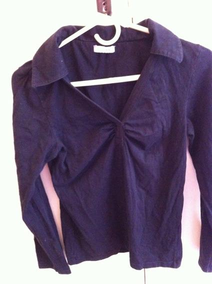 Remera Portsaid - Tipo Camisa - Color Negro