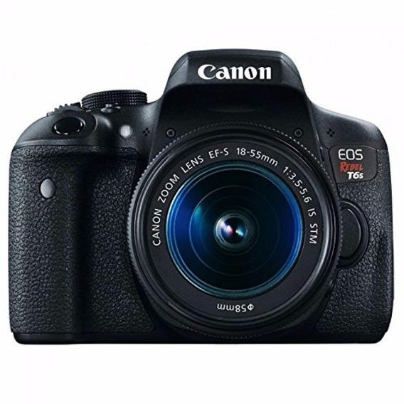Câmera Canon Eos Rebel T6s Dslr C/ 18-55mm Stm 12x S/juros
