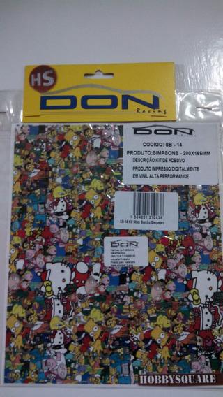 Sb-14 - Kit De Adesivo Stick Bombs Simpsons - 200x165mm