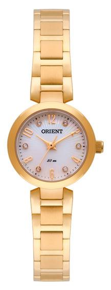 Relógio Orient Original De Fábrica, Femin, Dourado, Fgss0068