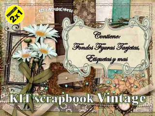 Kit Imprimible Scrapbook Vintage + 5pack+ Promo 2x1