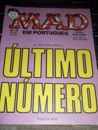 Revista Mad Nº 15 Editora Vecchi Ano 1975