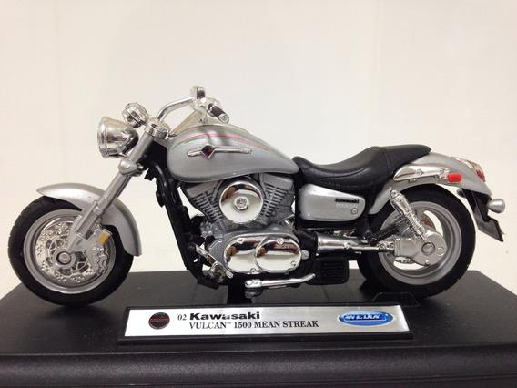 Miniatura Moto Kawasaki Vulcan 1500 Mean Streak 1:18 Diecast
