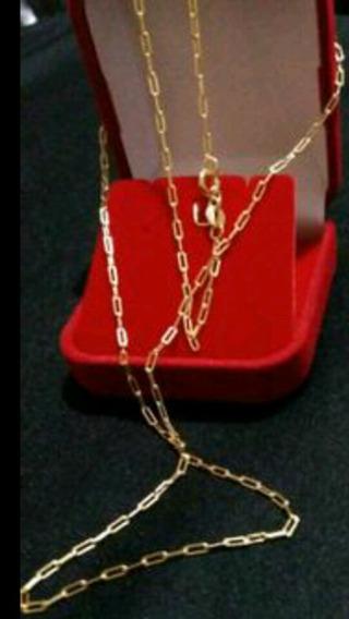 Promoção Lindo Cordão 60cm Banhado A Ouro 18k