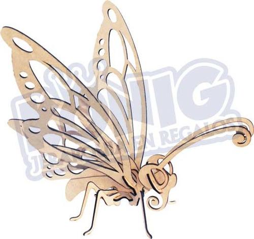 Imagen 1 de 3 de Rompecabezas 3d, Figura Mariposa  Armable, Regalo Original
