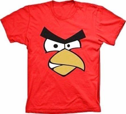 Camisetas-angry Bird-adulto-tam G -cor Vermelha-sku: Bedfrcl