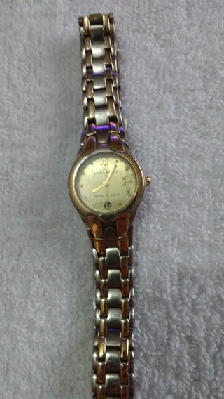 Relogio Fashion Anne Klein, Quartz Dourado Antigo E Original