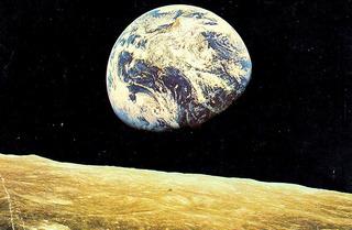 Cartão Postal Raro. Foto: Terra Vista Da Lua, 1969.