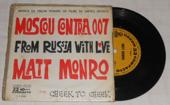 Vinil Compacto Moscou Contra 007 From Russia With Love 1964