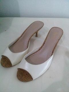 Zapatos Importados Como Nuevo Color Crema Numero 38!!!