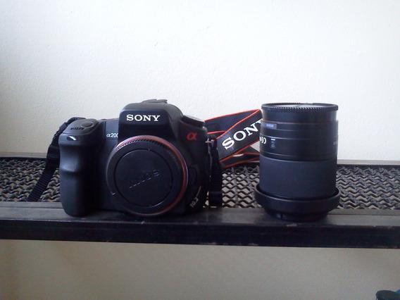 Camera Digital Sony A200 Com Lente Zoom