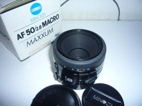 Lente Macro Minolta Af Sony 50mm /2.8 - A-mount - Impecável
