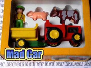 Mc Mad Car Playmobil 1 2 3 Camion Construccion 1990 6801