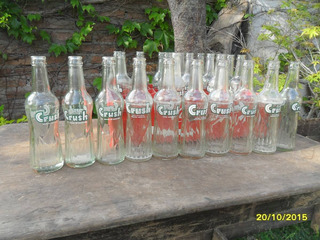 Lote De 3 Antiguas Botellas De Gaseosas Crush Chicas