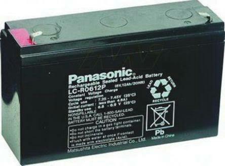 Bateria Panasonic 6vts 6ah Rhondamaq