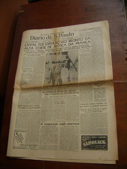 Jornal Diario De S. Paulo Nº 5366 / 1945 - Incompleto