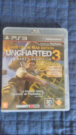 Uncharted 3 E Uncharte 2 - Ps3 - 2 Jogos