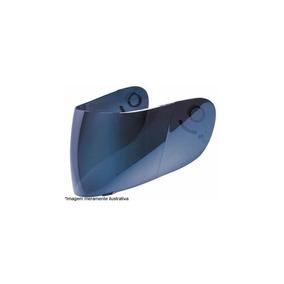 Viseira Azul Iridium - Mod Texx Bravo(todos)/carbon/race Dou