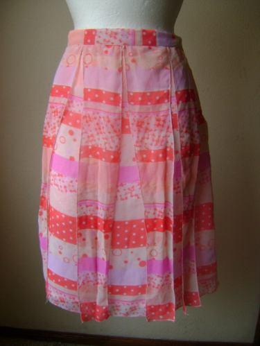 Falda Rosa Talla 16 Original Diseño!! Toni Garment Fach340