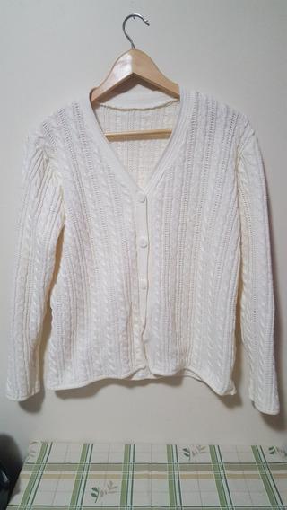 Casaco Casaquinho Feminino Lã Branco