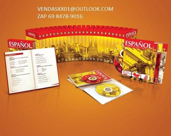 Espanhol Si Curso Completo Cds+dvds+apostilas Frete Gratis