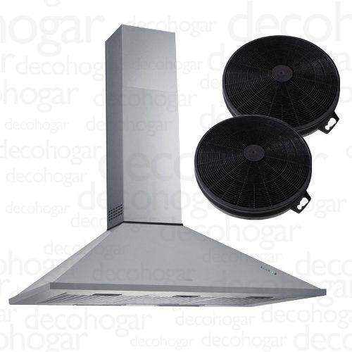 Campana Cocina Extractora Acero Tst Piramidal 75cm Filtro