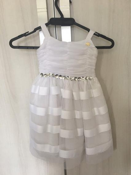 Vestido De Festa Infantil Lilica Ripilica Branco