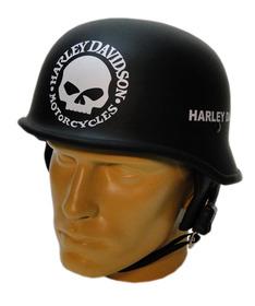 Promoção Capacete Custom M34  Cocão  Harley Davidson Skull