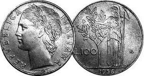 Moeda Da Republica Italiana L.100