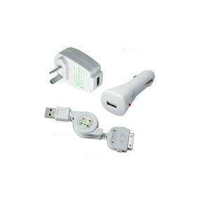 2c6723092a3 3 En 1 Cargador iPhone De Pared Para Auto Y Cable Retractil