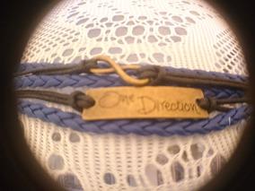 Pulseira De Couro One Direction Infinito 1d-azul