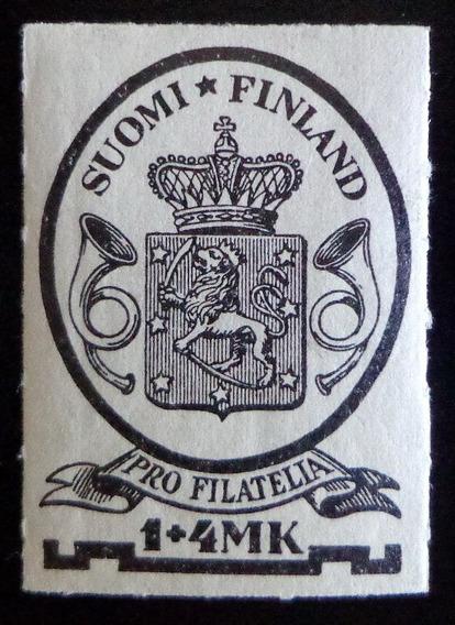 Finlandia, Sello Yv. 166 Pro Filatelia 1931 Nuevo L8546