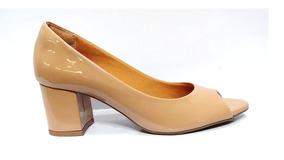 43e71fe51b Sapato Peep Toe Feminino Verniz Salto Ana Gimenez 005125