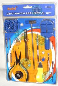 Kit D Herramientas Para Relojeros Joyeros Practico 22piezas
