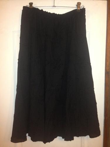 Falda De Mujer Color Negro Talla 44