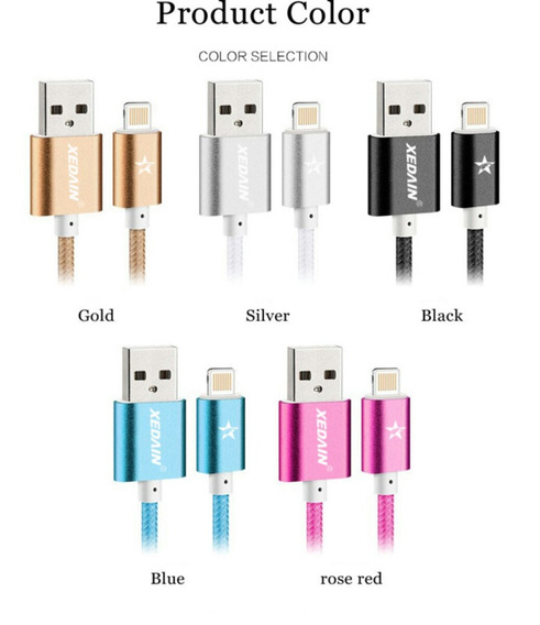 Linha De Nylon Cabos Usb iPhone 5 /samsung /android New