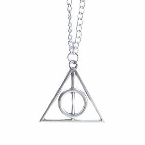 Colar Relíquias Da Morte Harry Potter Prata