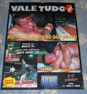Ufc Mma Vale Tudo 4 Filme Poster Original 1996 Raridade