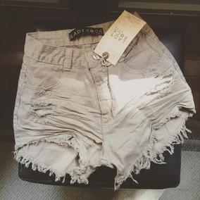 6ddf8a914 Sort Lady Rock - Shorts Jeans para Feminino Marrom no Mercado Livre ...