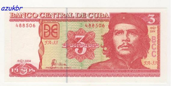 * Cuba - 3 Pesos Ano 2004 - Che Guevara - Fe *